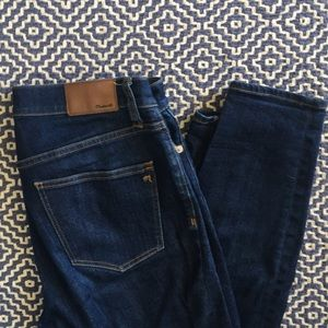 Madewell High Rise Skinnies in Dark Wash